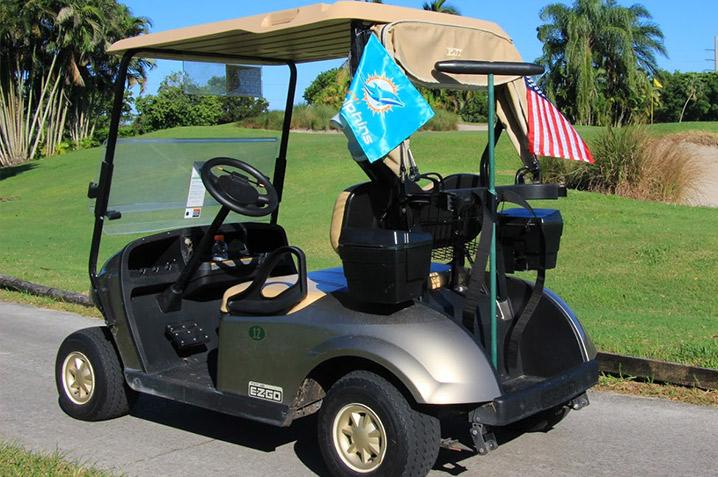 Flag on Golf Cart