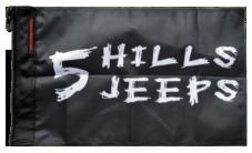 5 Hills Jeeps Flag